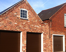 Large practical garage doors built with an extension.